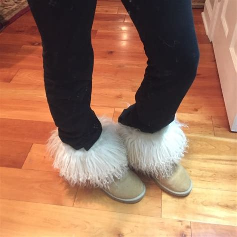 ugg fuzzy slippers 75 ugg shoes fuzzy uggs from maisie s closet on