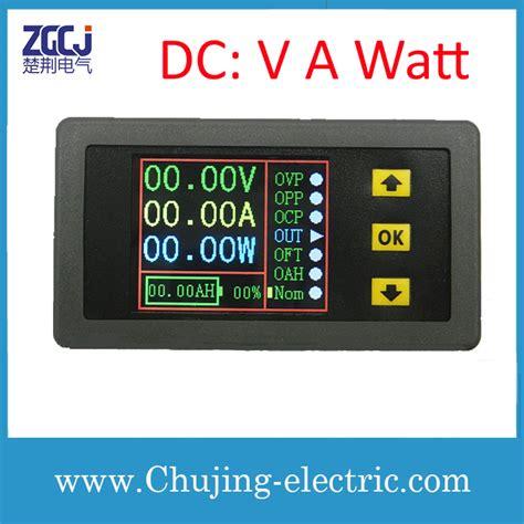 Jual Dc Watt Meter lcd display dc a v watt measuring meter display dc ere voltage power charge capacity and time