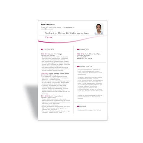 Modèle Gratuit De Cv by Resume Format Modeles De Cv Etudiant