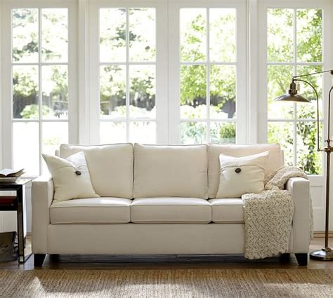 pottery barn loveseat cameron square arm upholstered sofa pottery barn