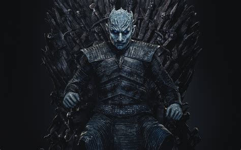 wallpaper  night king game  thrones throne