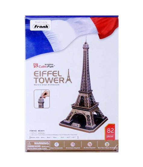 eiffel tower puzzle with lights frank eiffel tower 3d puzzle game set 82 pieces buy