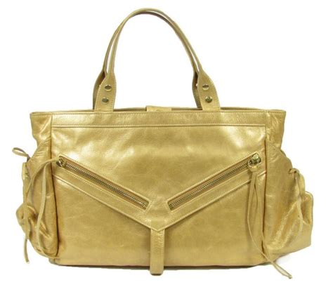 Botkier Medium Satchel by Botkier Metallic Gold Leather Trigger Medium Satchel