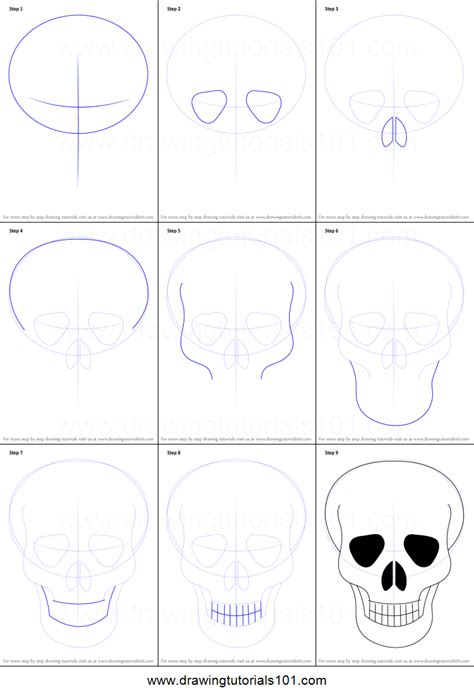 how to draw a step by step easy how to draw skull easy printable step by step drawing sheet drawingtutorials101