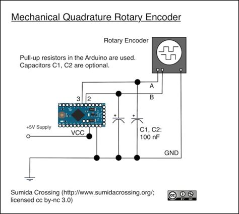 arduino encoder pull up resistor arduino knobs electronics basics sumida crossing