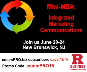 Rutgers Mini Mba Social Media Marketing by Execed Connecting The Dots For Communications Success