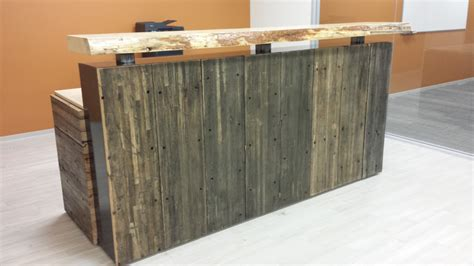 executive reception desk modern rustic executive reception desk crafted from
