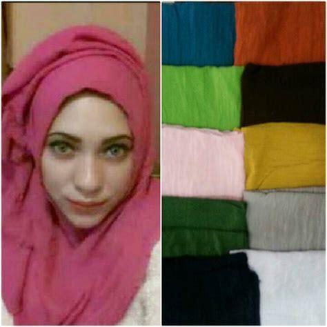 Jilbab Segi Empat Ombre warna rumah hijau pupus 2017