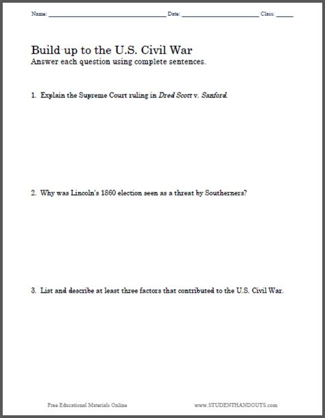 Ap Us History Essay Questions Civil War by Build Up To The U S Civil War Essay Questions Free To