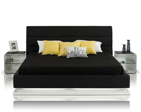 Dining Room Tables Miami by Infinity Contemporary Black Platform Bed W Lights