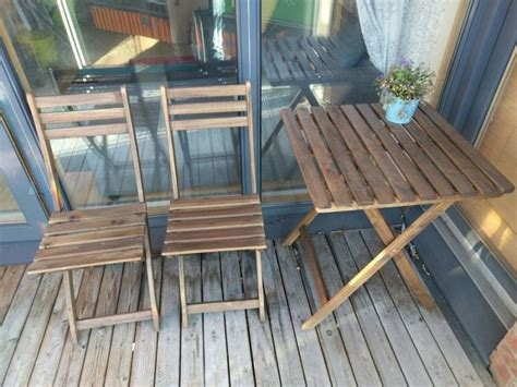 hanging balcony table ikea table and 2 folding chairs for garden patio outdoor