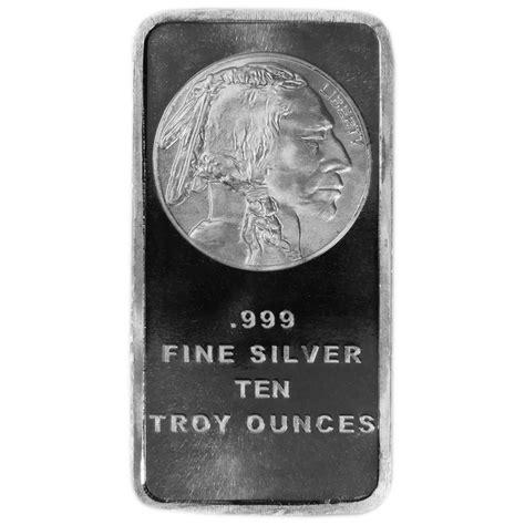 10 Troy Oz Silver Bar - 10 troy oz buffalo 999 silver bar sealed ebay