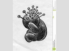 Headache Voodoo Doll Sketch Stock Illustration - Image ... Rag Doll Drawing
