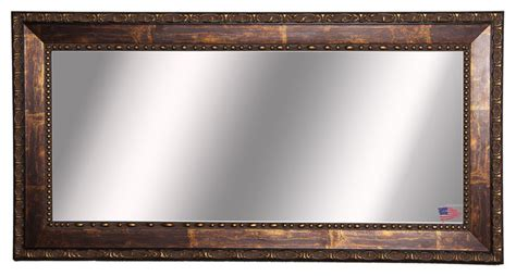 bronze bathroom mirrors american made rayne roman copper bronze double vanity wall