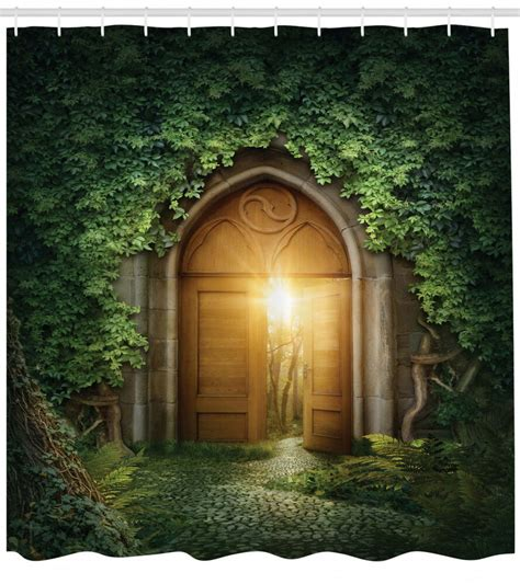 light shine door to the secret garden fantasy theme decor