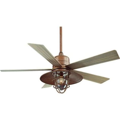 home depot outdoor ceiling fans with lights hton bay metro 54 in rustic copper indoor outdoor