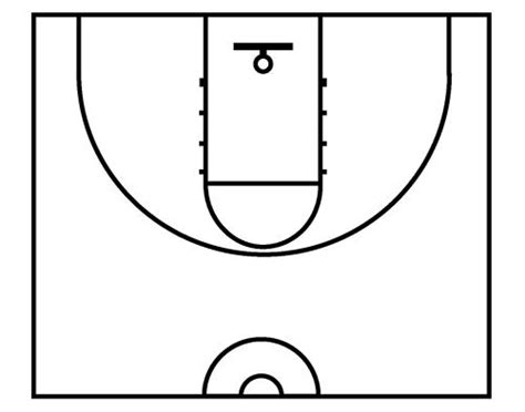 basketball court diagram basketball half court diagrams printable clipart best
