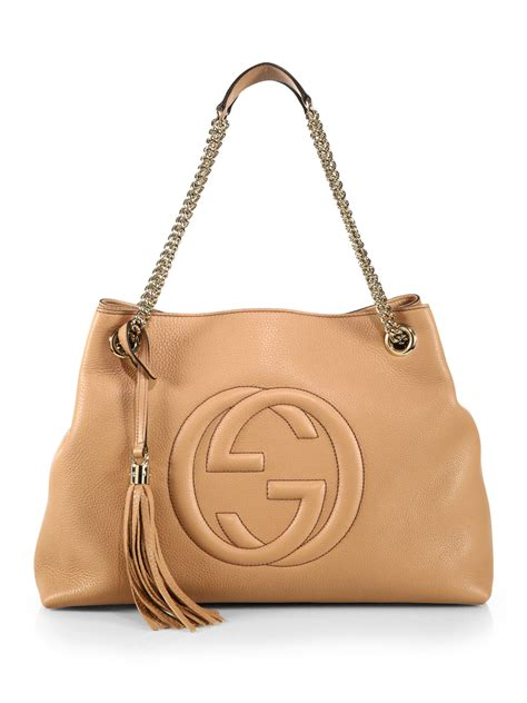 Guc Ci Leather Brown gucci soho leather shoulder bag brown leather travel bags