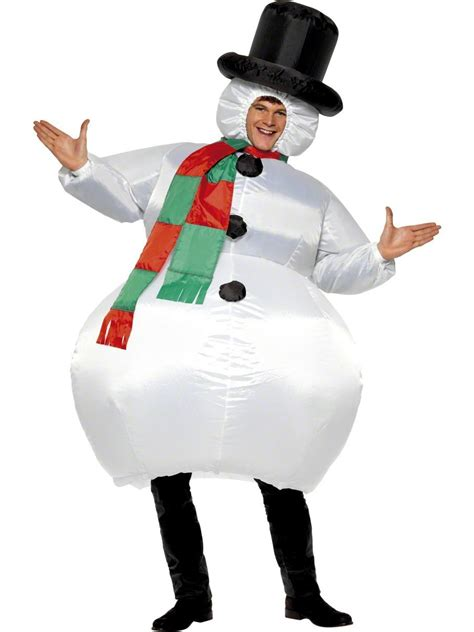adult bounce house adult inflatable snowman costume 38155 fancy dress ball