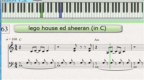 lego keyboard tutorial lego house ed sheeran piano keyboard tutorial easier in c