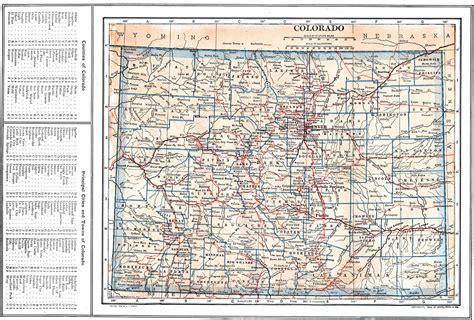 county map of colorado with cities colorado