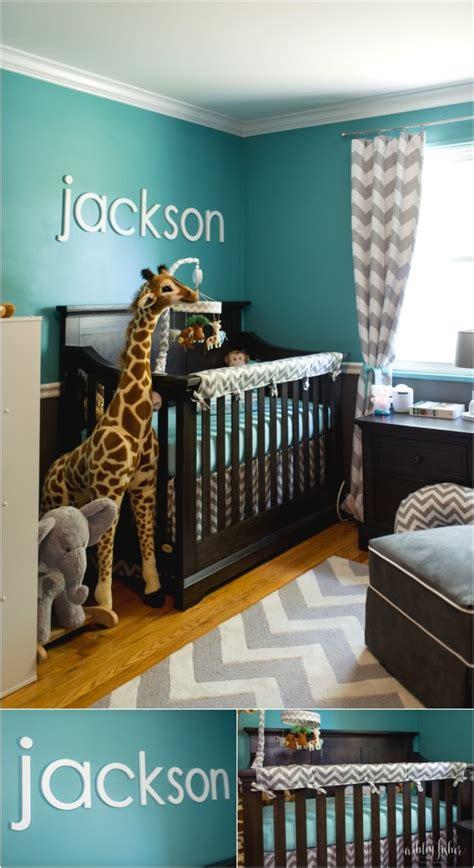 Safari Curtains For Nursery Jackson S Teal And Grey Chevron Safari Nursery Project Nursery