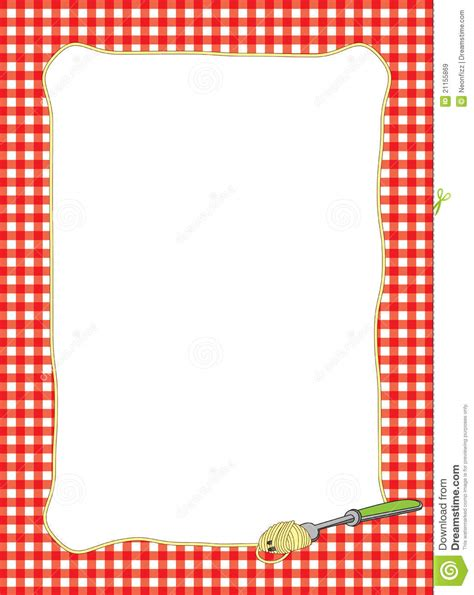 Free Kitchen Design Templates by Fork Twirling Spaghetti Frame Stock Illustration