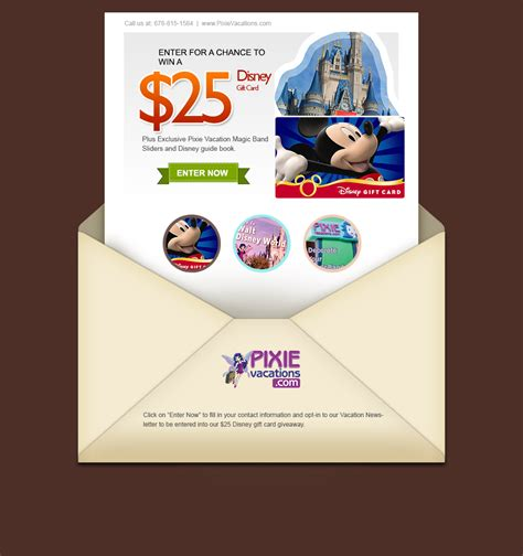 Deals On Disney Gift Cards - disney gift card drawing pixie vacations