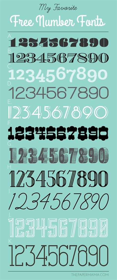 tattoo number fonts 25 best ideas about number fonts on