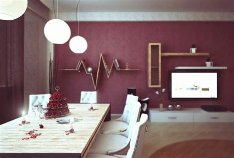 Burgundy dining room