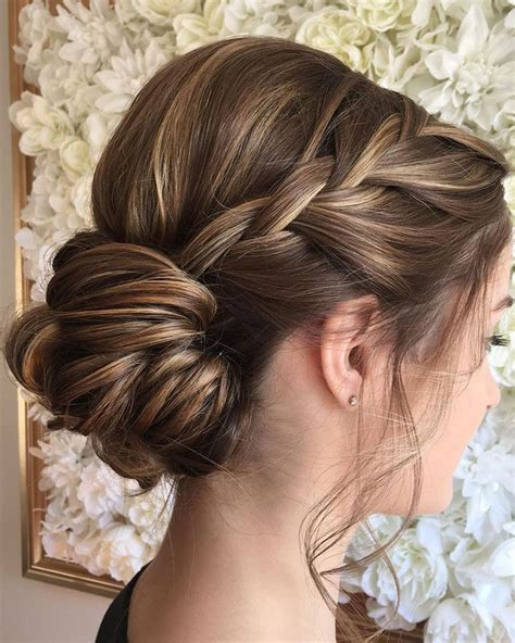 Wedding Hairstyles With Braids For Bridesmaids by Bridesmaid Hairstyles With Braids Updo Www Pixshark