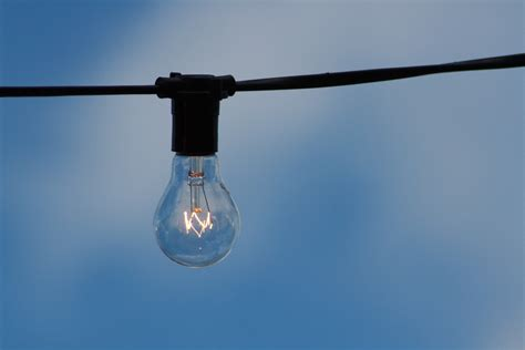 Clear Light Bulb On Wire 183 Free Stock Photo Clear Lights With Clear Cable