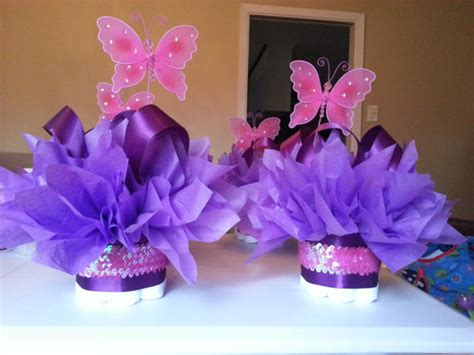 butterfly centerpieces decorations butterfly mini cakes customize your table by jayleedesign