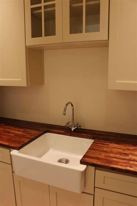 diy wood countertops ikea domsjo sink farmhouse sink wood countertops varde