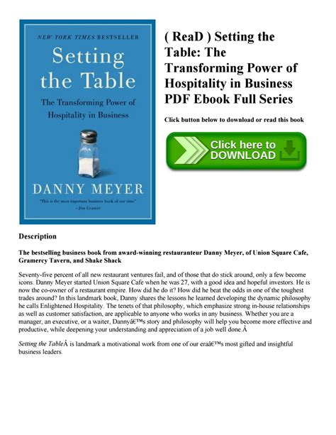 setting the table danny meyer setting the table danny meyer danny meyer setting the