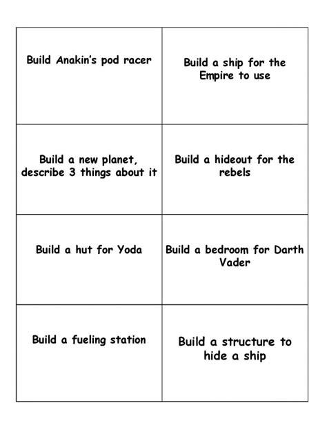 printable word challenge games lego star wars printable game cards