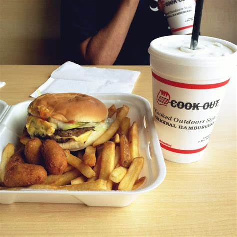 cookout hush puppies cheeseburger fries hush puppies banana pudding milkshake all for 5 praise