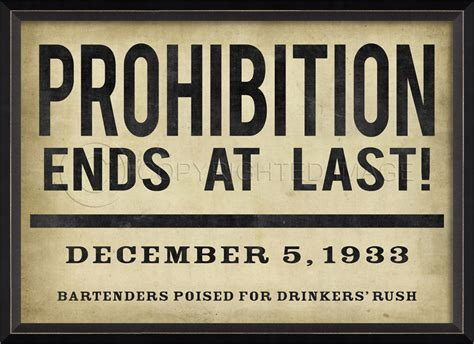 prohibition ends spicher and company signs and posters by the artists