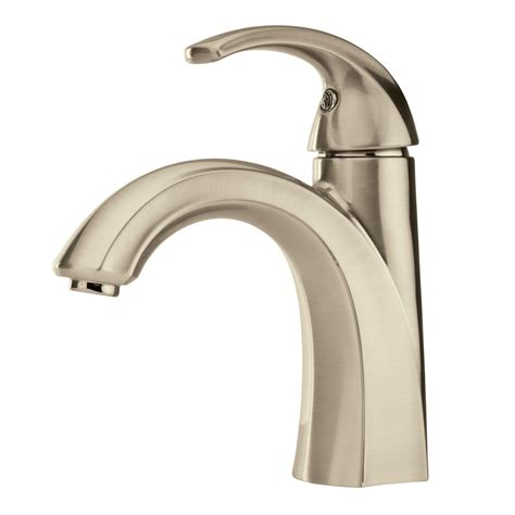 one handle bathroom faucets shop pfister selia brushed nickel 1 handle single hole