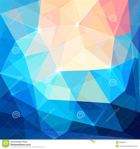 colorful crystal wallpaper abstract colorful triangles vector background stock vector