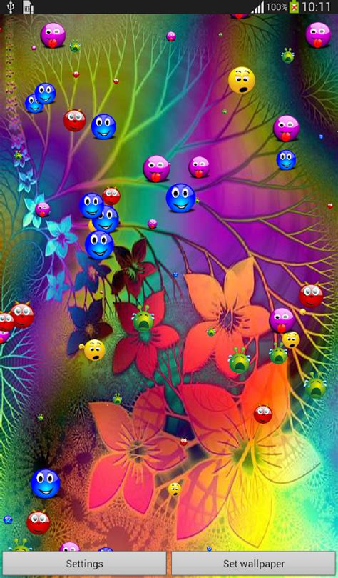 colorful live wallpaper colorful smiley live wallpaper android apps on google play