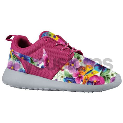 customize nike sneakers shoes nike sneakers pink floral nike roshe run nike