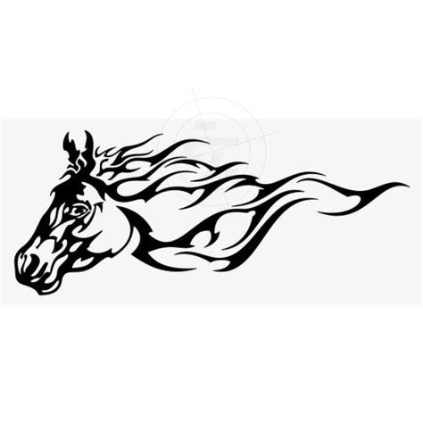 Aufkleber Flammen by Flammenaufkleber Pferdekopf