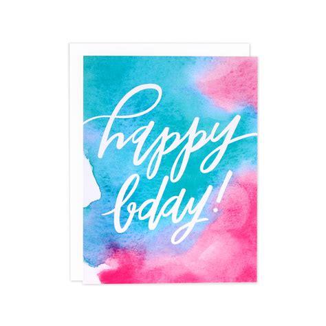 Birthday Card Watercolor Watercolor Birthday Card Watercolor Bday Card Watercolor
