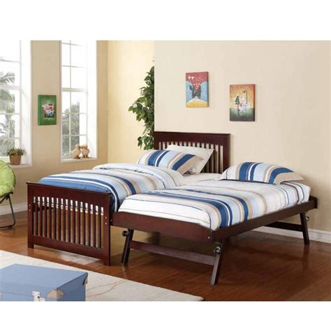 twin bed with pop up trundle salinas wooden and metal twin bed with pop up trundle