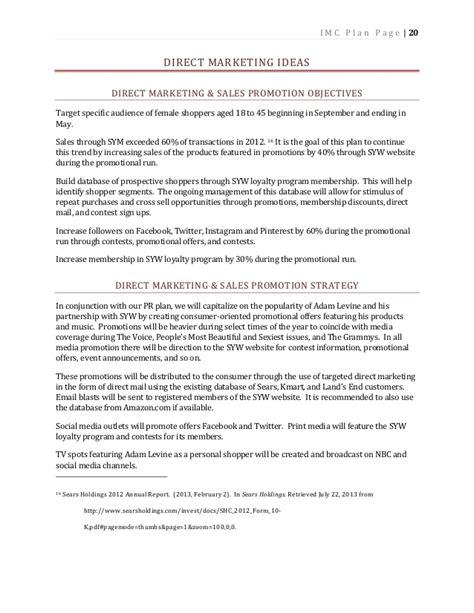 Imc 610 Integrated Marketing Communication Plan For Kmart Imc Plan Template