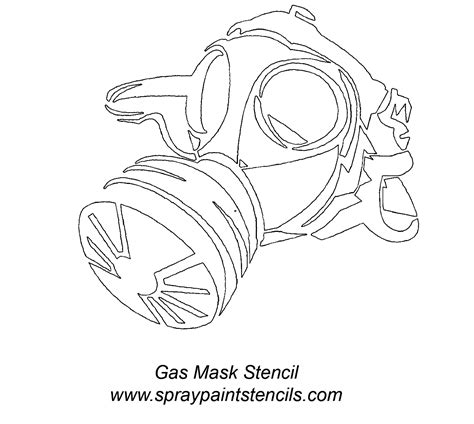 printable gas mask template stencils listing g s