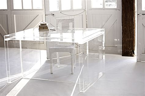clear acrylic desk acrylic home office desks for a clearly fabulous work space