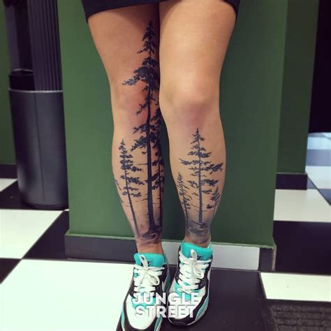 tree leg tattoo 12 forest tattoos on leg