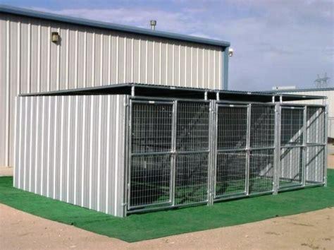 heavy duty kennels kennel heavy duty 3 run 6 x12 x6 3 sides roof